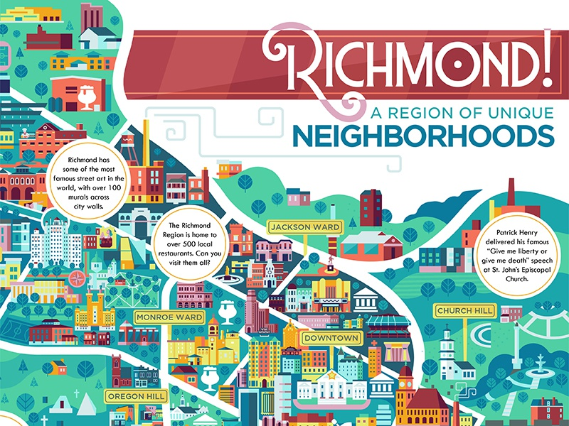 Map Of Richmond By The Point Studio Dribbble Dribbble