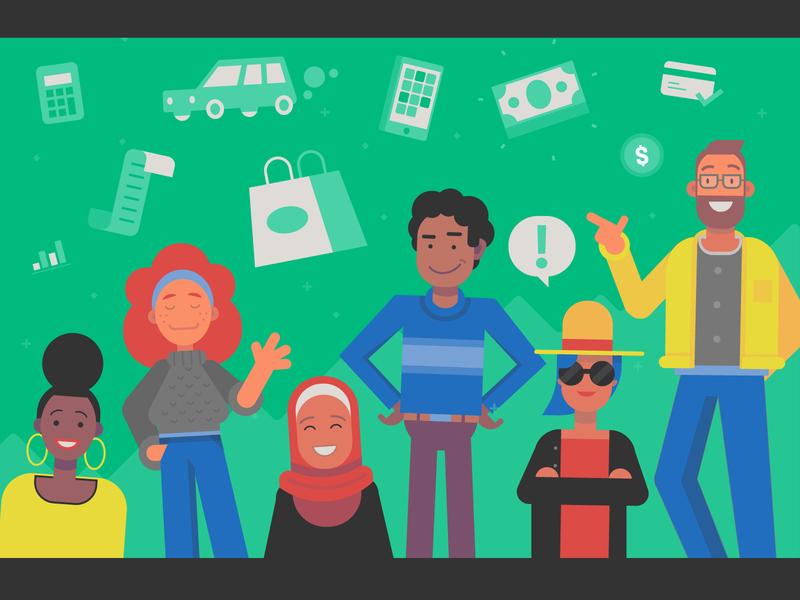 Networthy banner millennials money budget financial color flat vector illustration banner linkedin networthy