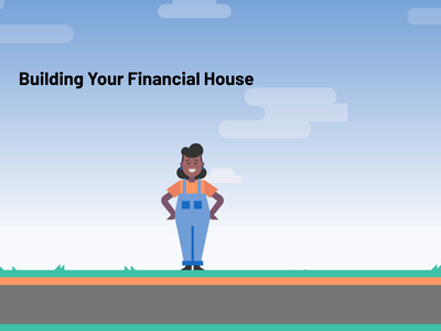 Building Your Financial House infographic networthy cartoon money independence house personal finance animation motiongraphic vector illustration