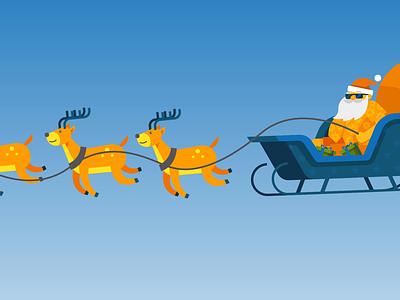 Christmas in July alt-e vector flat motiongraphic marketing advertisement energy solar july christmas animation illustration