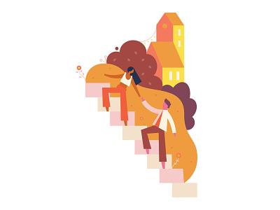 Steps We Take branding vector illustration art public pittsburgh poster neighborhood festival stairs steps