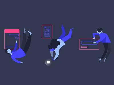 Voice Design experience platform chat branding banner blog illustration design app sound voice botsociety