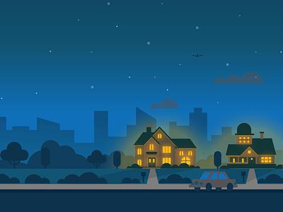 Scared of the Dark? power vector flat illustration animation banner ad solar energy alte promotion halloween