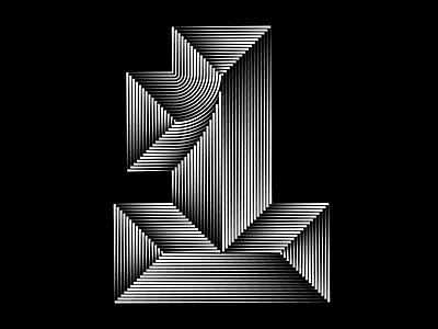 1 - 36days of type - #36daysoftype - 2020 free font graphic design calligraphy modular custom type letter illustration sergi delgado opart optical art op art lettering typography 36daysoftype 36days 0