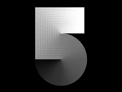 5 - 36days of type - #36daysoftype - 2020 free font graphic design calligraphy modular custom type letter illustration sergi delgado opart optical art op art lettering typography 36daysoftype 36days 5