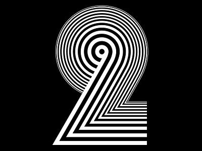 TWO - Sergi Delgado optical optical art graphic design 36days 36daysoftype calligraphy modular illustration custom type lettering typography sergi delgado