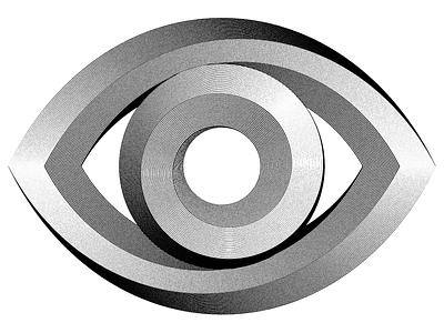 EYE impossible shape eye eischer engraved illustrations graphic design op art modular optical art opart design logo illustration typography sergi delgado