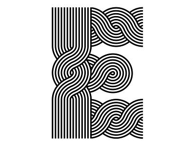E  - Braid exploration stripes logotype 36 days of type letter 3days op art opart 36daysoftype optical art custom type modular lettering illustration typography sergi delgado