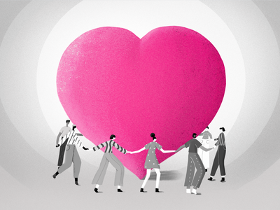 Giveback Love hug giveback insurance pink love blog post heart illustration lemonade