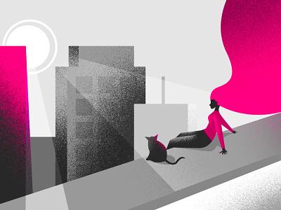 The Anti Millennials hair skyline insurance pink millennials blog illustration lemonade