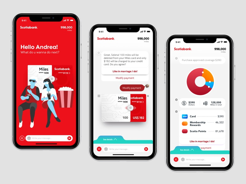 Scotiabank Rewards App Concept mobile ux banking app rewards bank app ui design