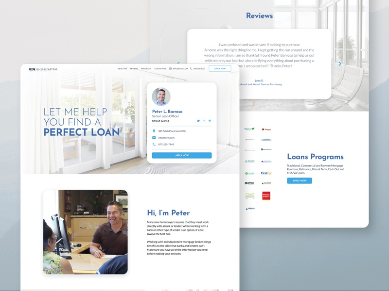 Daily UI 006   User Profile mortgage branding website ux design ui
