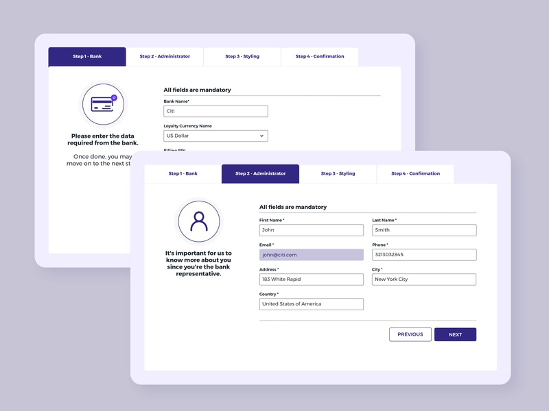 Daily UI 007   Settings banking app bank website ux design ui