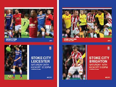 Stoke City F.C. social media rebrand. graphic design design reband twitter soccer football social media