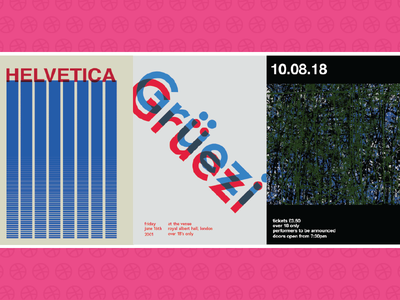 Recent Poster Designs painting typography posters swiss style