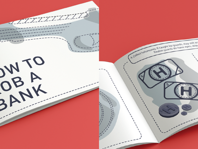 College work: How to rob a bank typography design manual college