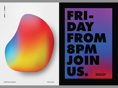 Gradient Posters posters poster typography type gradient