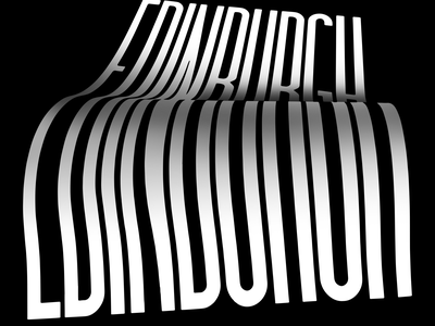 University work: Edinburgh Camera Obscura posters illustration typography design illustrator illusion