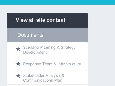 Site Content Box flat ui website