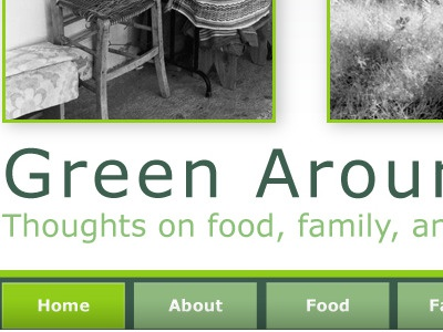 Green Around the Edges homepage navigation homepage buttons
