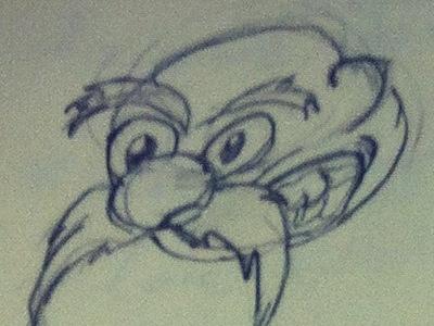 Face doodle face pencil