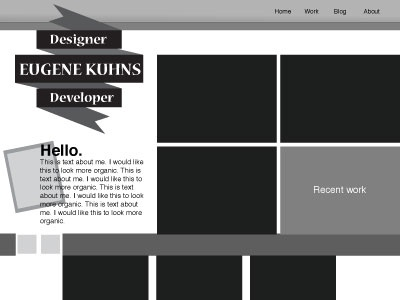 Black and White redesigns wireframe lo-fi