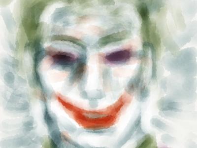 Joker joker watercolor ipad paint