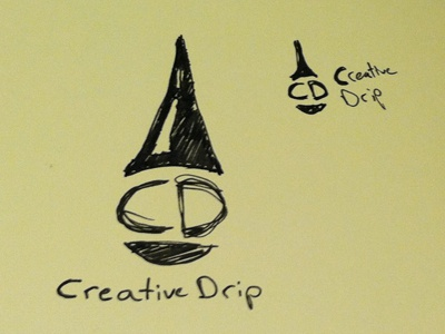 Creative Drip logo sketches wip