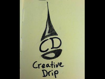 Creative Drip v2 logo sketches wip