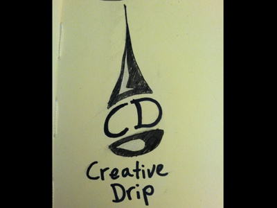 Creative Drip v2 logo sketches wip
