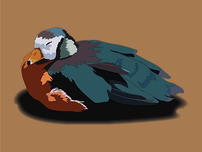 Shhh, he's asleep. illustration animals
