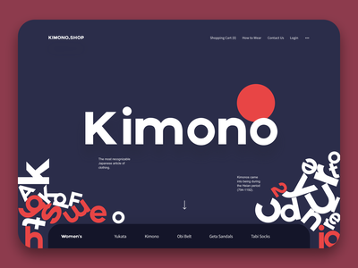 Kimono online shop website ecommence online shop kimono web design web
