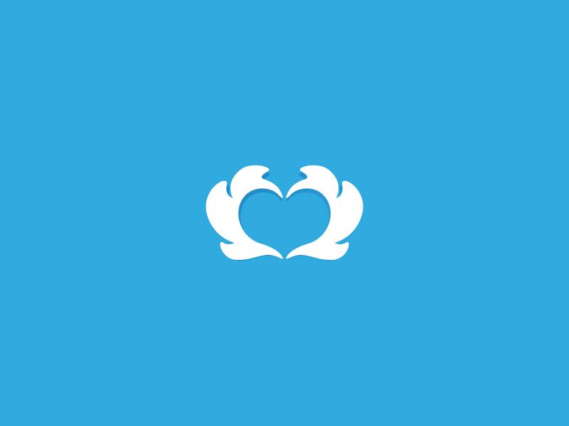 API wing wings heart logo