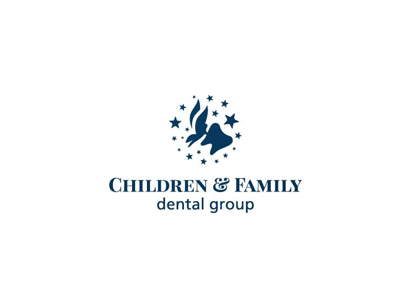 CFDP tooth fairy wings stars magic dentist kids logo
