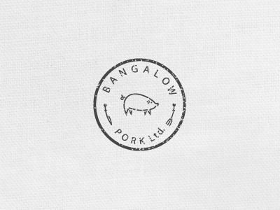 Bp Final java acosta pig logo identity fork knife texture badge lean fit