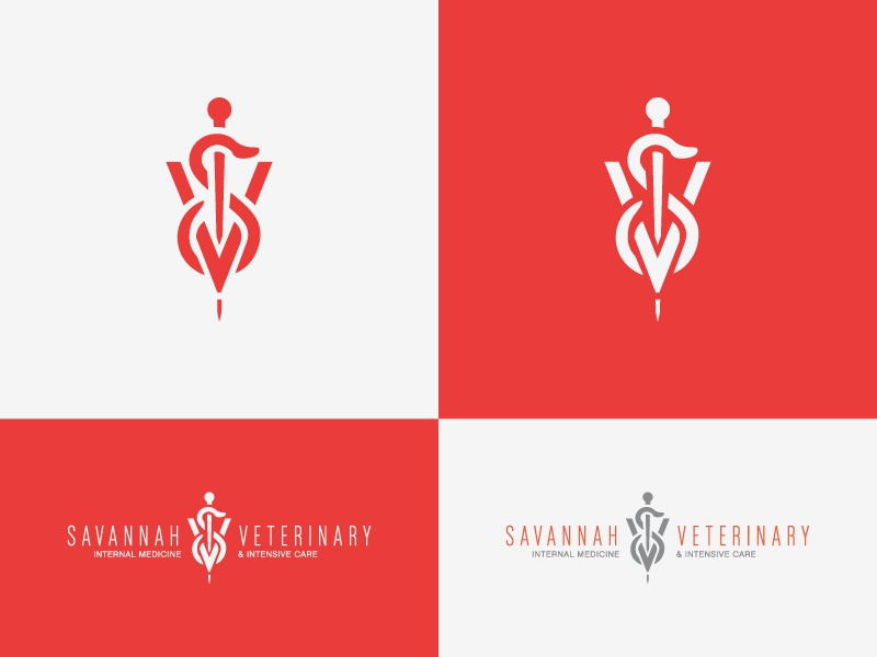 Savannah Veterinary icon imagemark logo snake monogram caduceus veterinary savannah