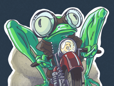 Frog Motorcycle Gang Rides Again!