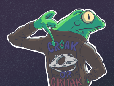 Croak or Croak - Frog Motorcycle Gang #2