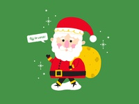 Santa is off to work!