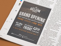 Helium Studio | Newspaper Advertisement