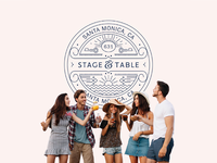 Stage and Table Logo Design