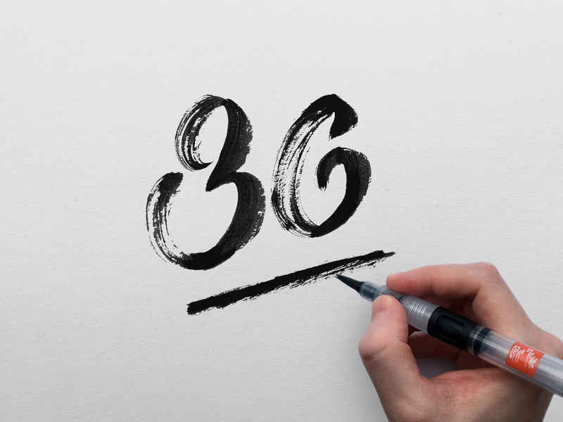36 ink 36 birthday card typography lettering artist lettering hand lettering design