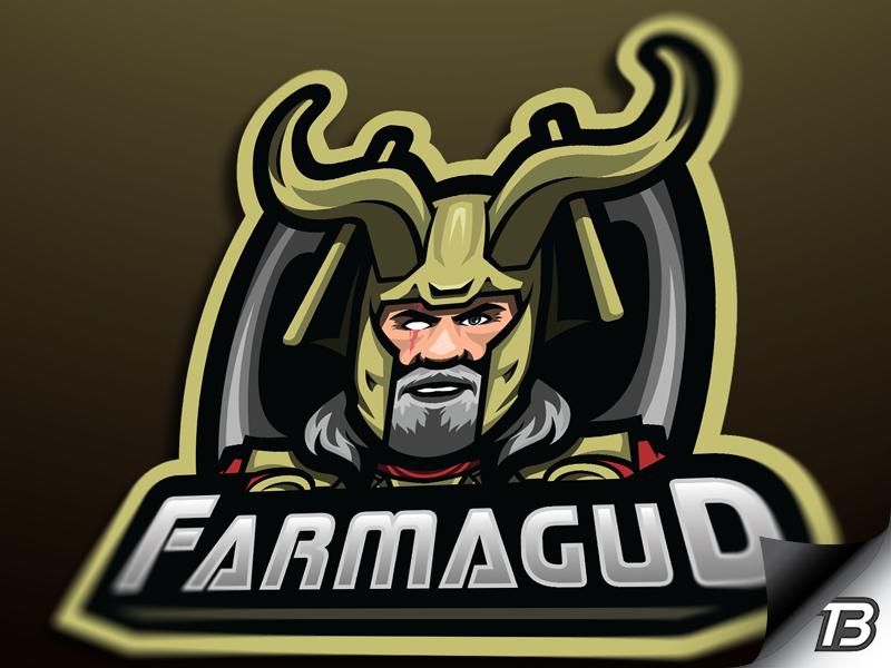 Mighty Odin gold illustration gaming mascot logo eye thor odin