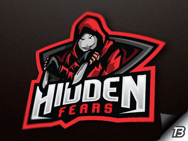 Hidden Fears illustartion logo mascot knife hoodie knives darkness dark fear