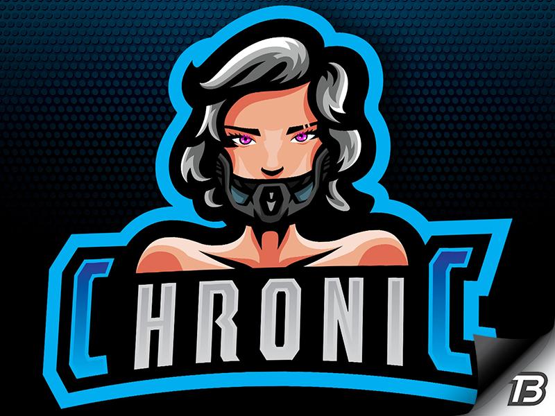 Chronic future twitch gaming illustration mascot logo bot robot droid