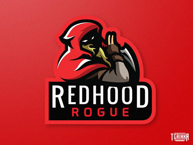 RedHood blonde gaming illustration logo mascot knife red redhood