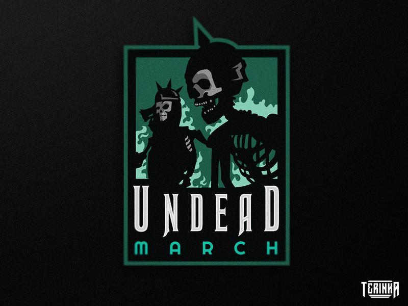 Undead March design branding illustration gaming mascot logo