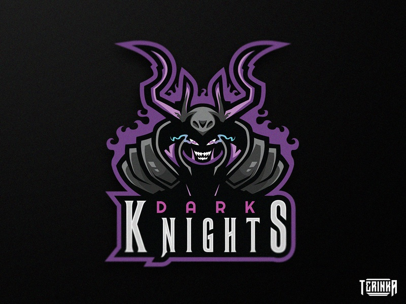 Dark Knights gaming mascot branding logo illiustration