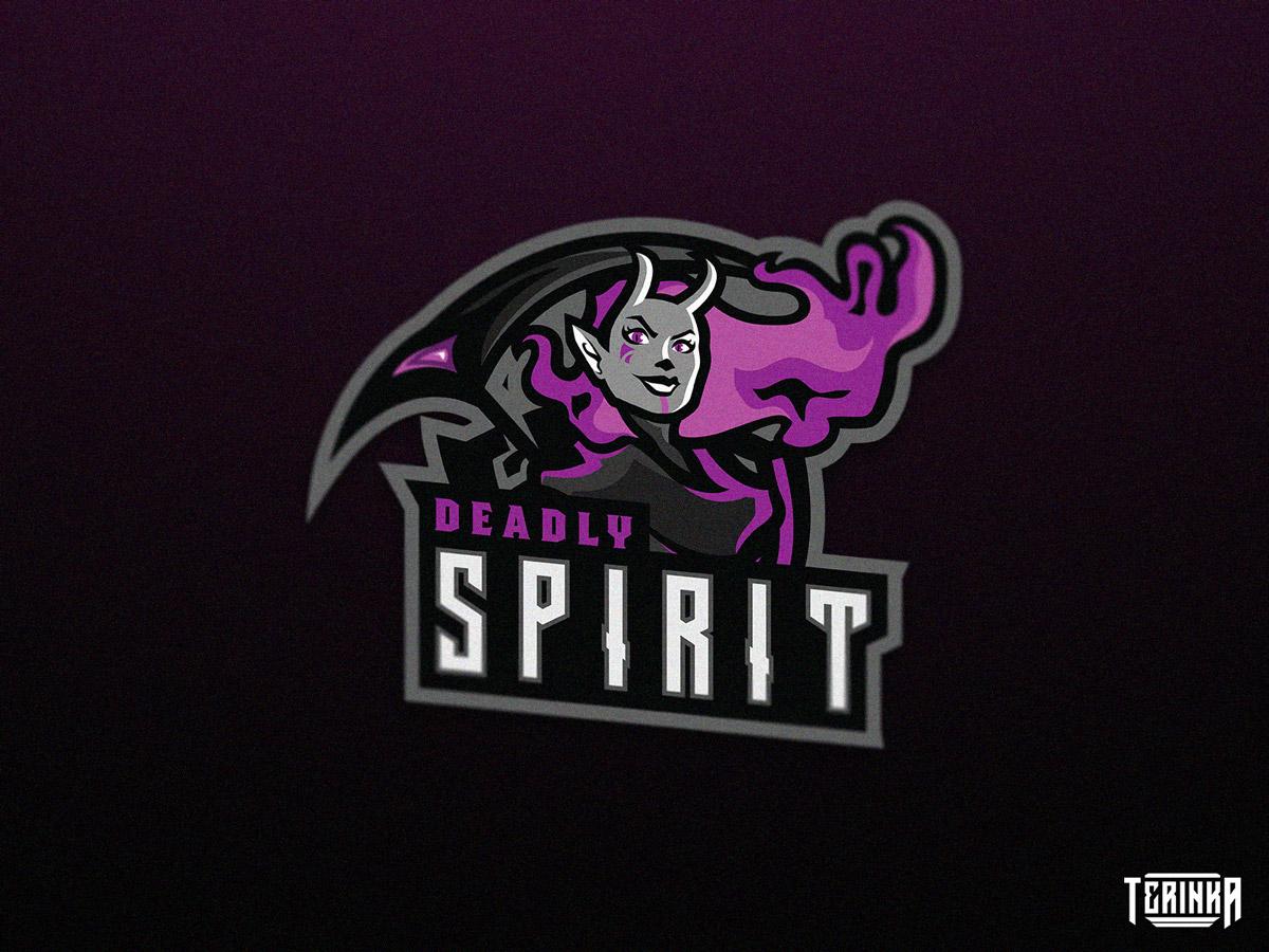 Spirit sport gaming illustration logo mascot