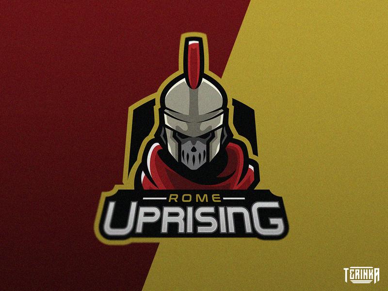 Rome Uprising war army mascot branding esport gaming logo soldier rome